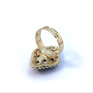 Cherryl's Jewelry - Crystal Goldtone Adjustable Ring